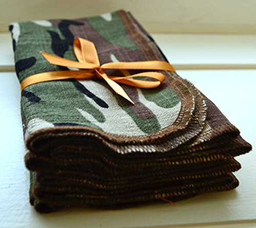1010 Inches Camouflage Cotton Polyester Napkin With Linen Like